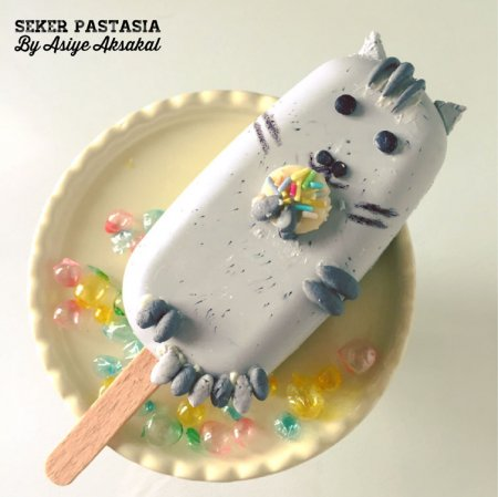 Pusheen Cat Cakesicle